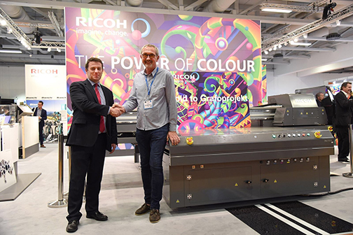 Grafoprojekt invests in Europe's first Ricoh Pro T7210.